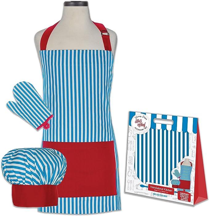Pino o cocina de juguete del niño rayas 100% algodón delantal ...