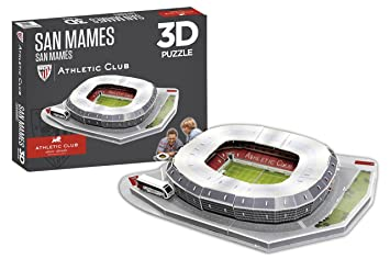 Athletic Club Bilbao- Puzzle Estadio 3D San Mamés (Athletic Club) (81014), (Eleven Force 1)