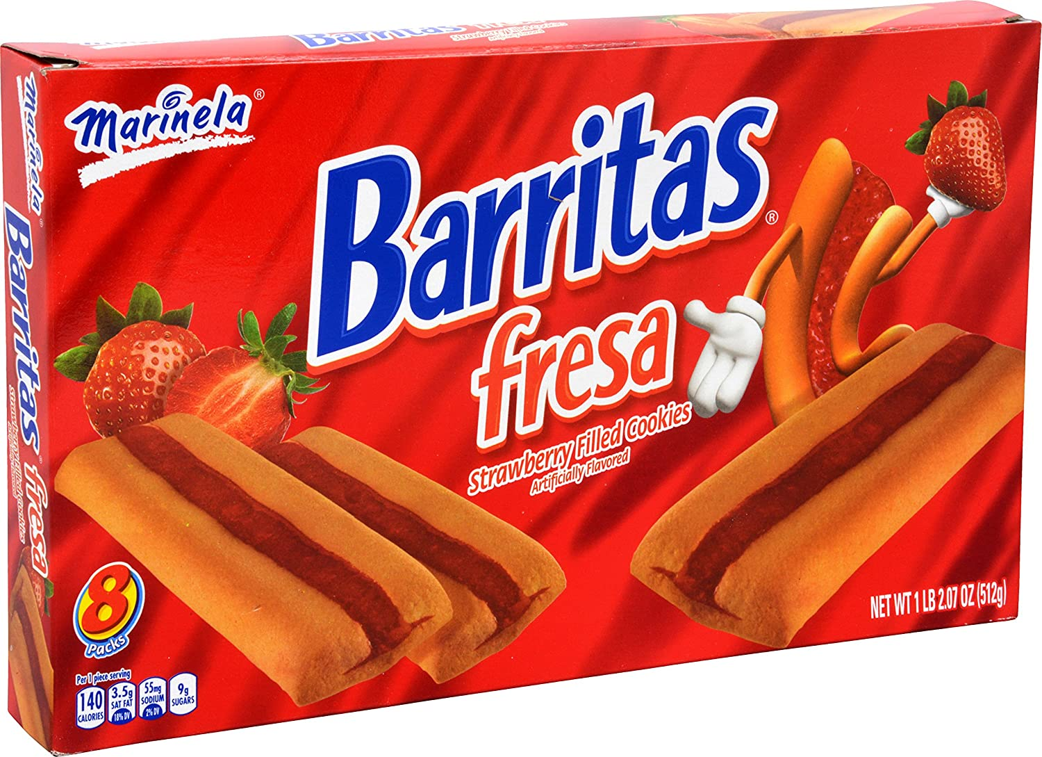 Amazon.com: Marinela Barritas De Fresa En Caja Strawberry Bars Box, 18.06 oz
