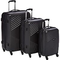 American Tourister Trillion Hardside Spinner Luggage Set of 3, with TSA Lock - Black