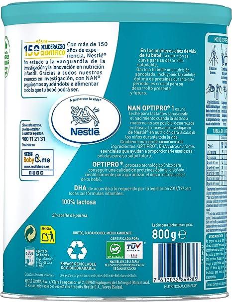 Nan Optipro 1 Leche para Lactantes en Polvo Fórmula para Bebé ...