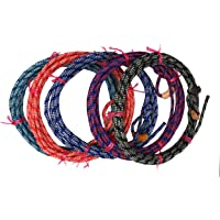 AJ Tack Wholesale Kid Rodeo Lasso Lariat Rope Leather Burner 20ft Made in USA Waxed Mixed Color