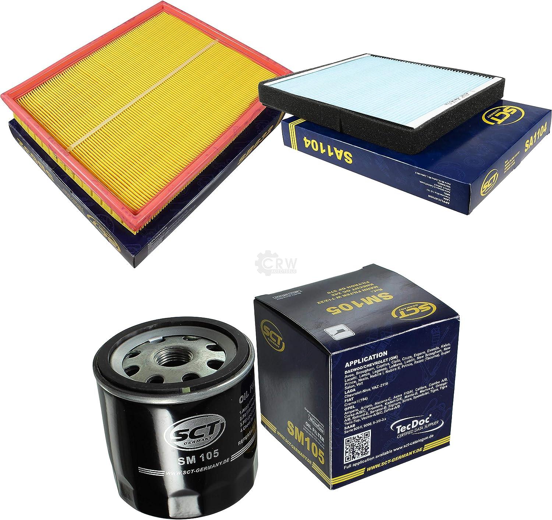 Sct Germany Inspektions Set Inspektionspaket Luftfilter Ölfilter Innenraumfilter Auto
