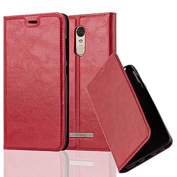 Cadorabo Funda Libro para Xiaomi RedMi Note 3 en Rojo Manzana – Cubierta Proteccíon con Cierre
