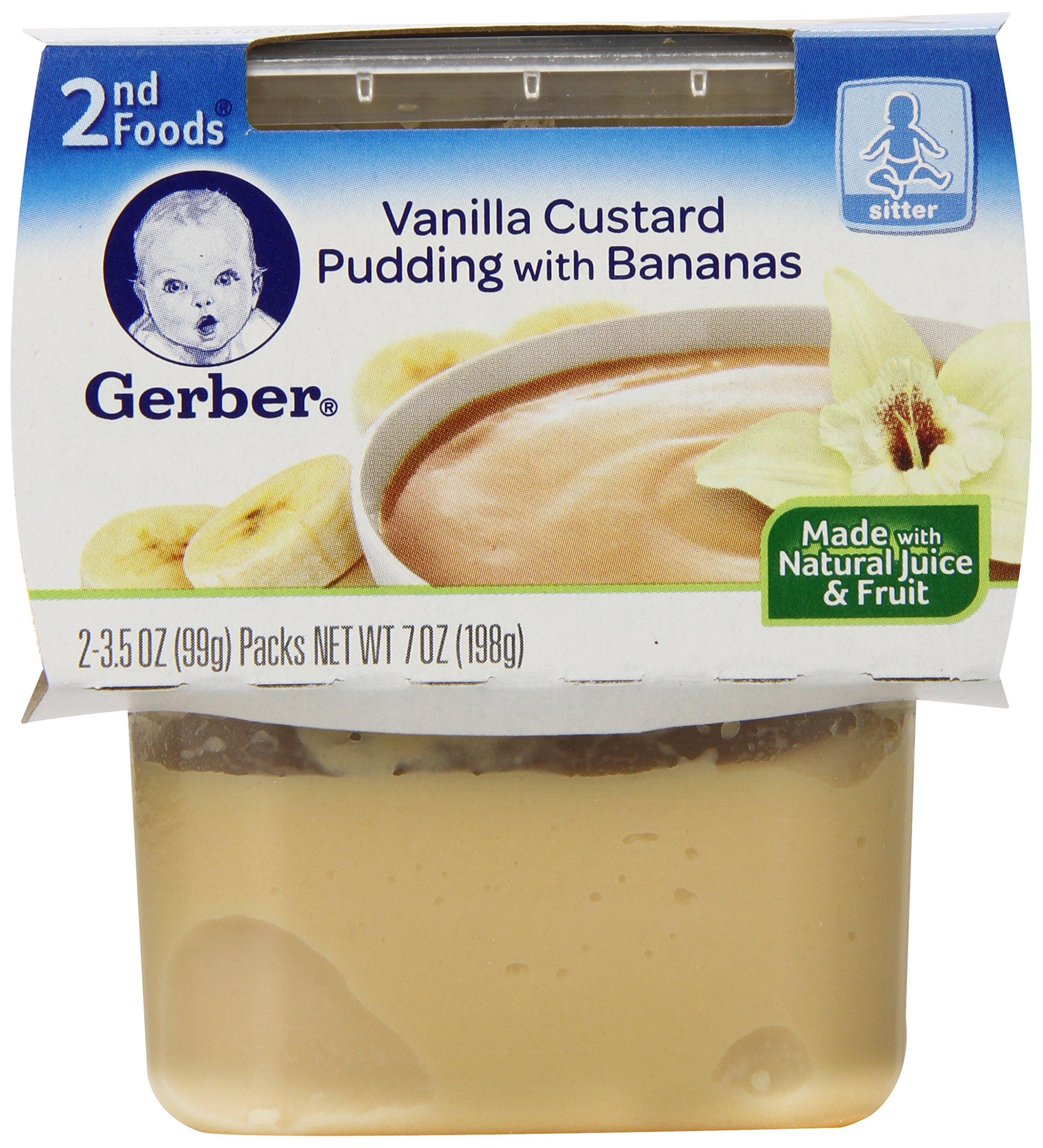 Gerber 2nd Foods Vanilla Custard with Banana, 2 Count (Pack of 8)