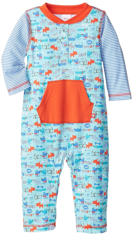 Zutano Baby Boys Periwinkle Multi Stripe Romper