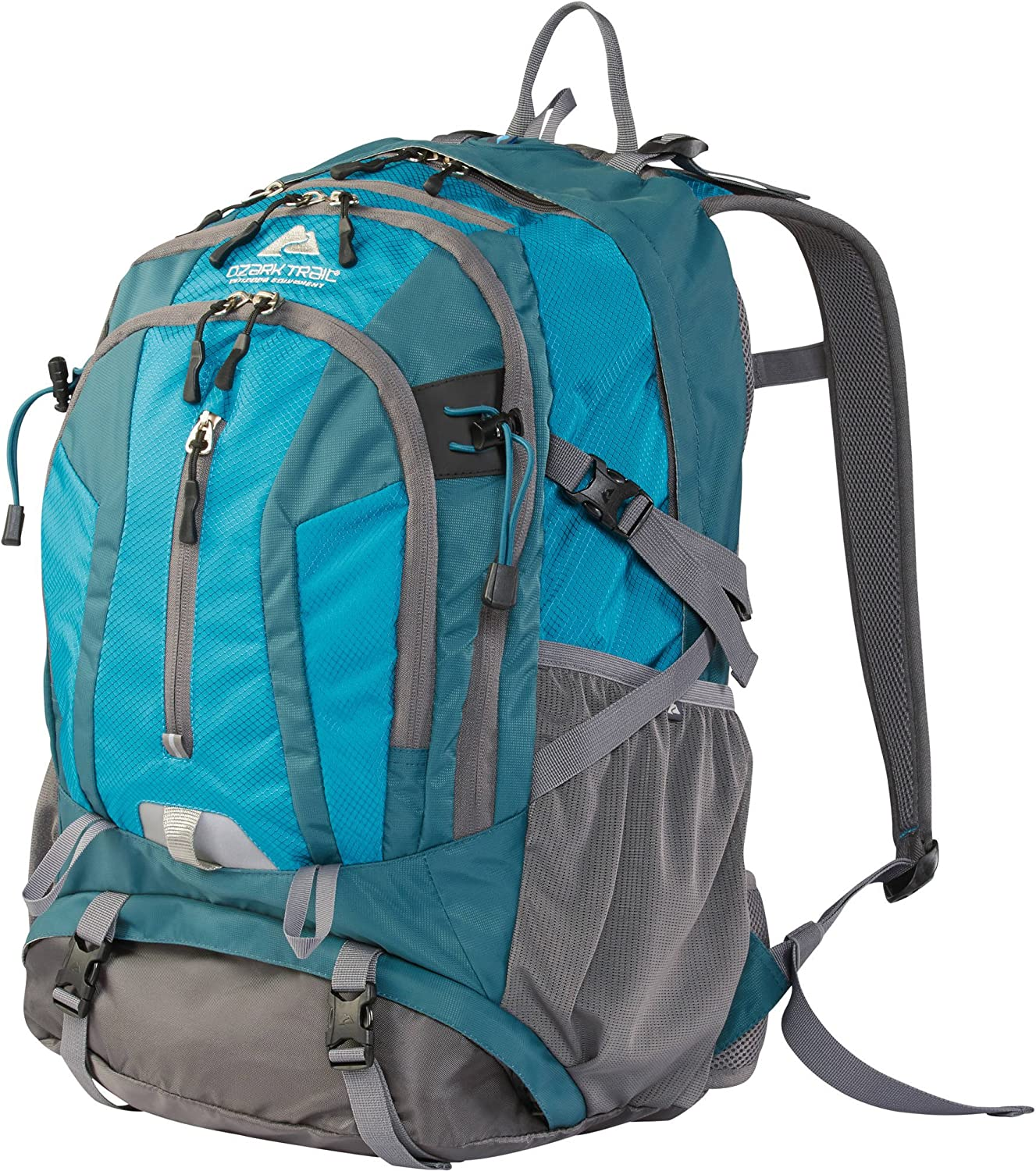 Ozark Trail 36L Kachemak Daypack Hiking Backpack, Blue