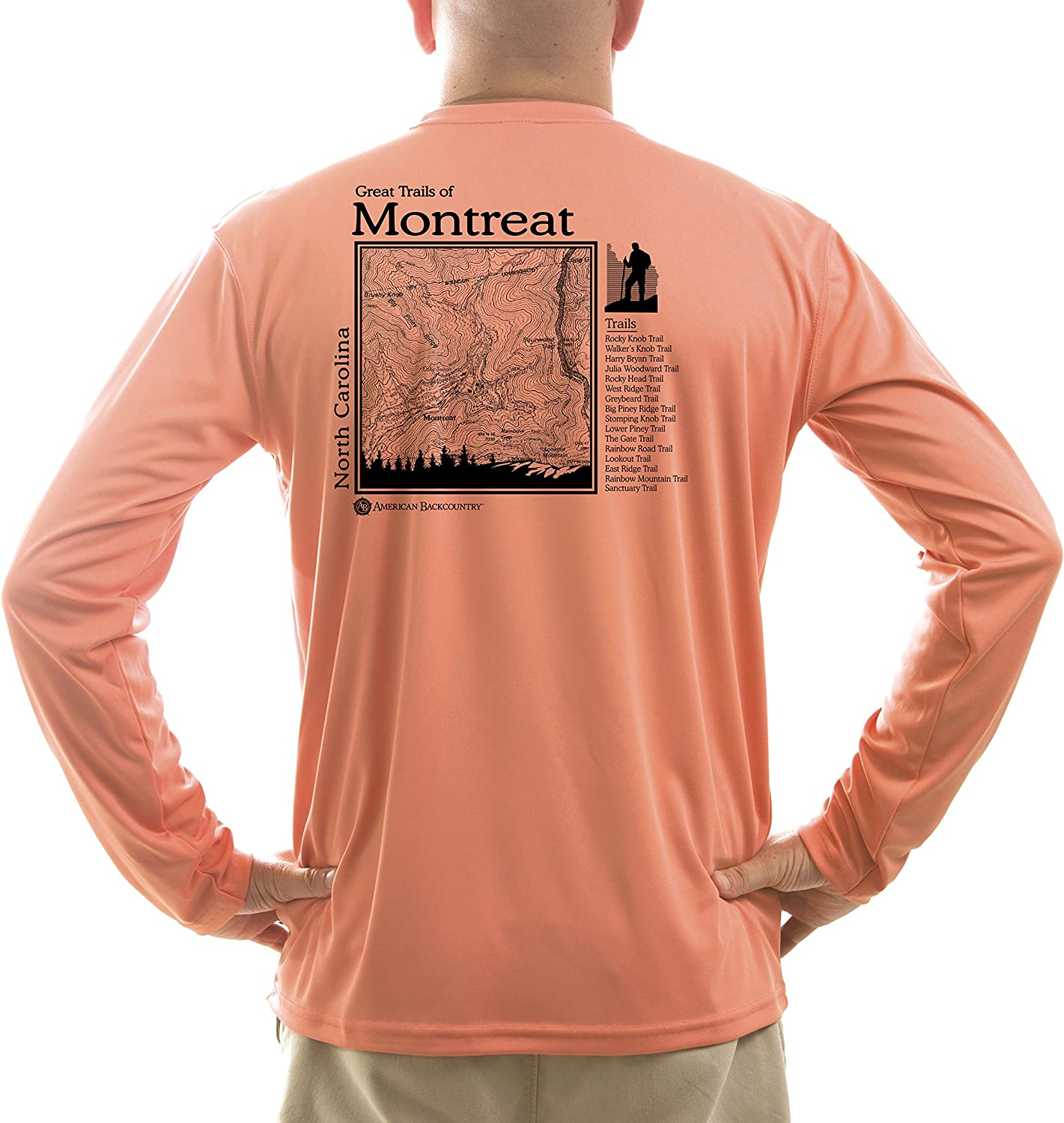 American Backcountry Mens Great Trails of Montreat UPF 50 Long Sleeve T-Shirt