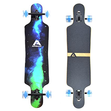 Apollo Longboard Galaxy Special Edition Board complet con rodamientos de Bolas High Speed ABEC Drop Through