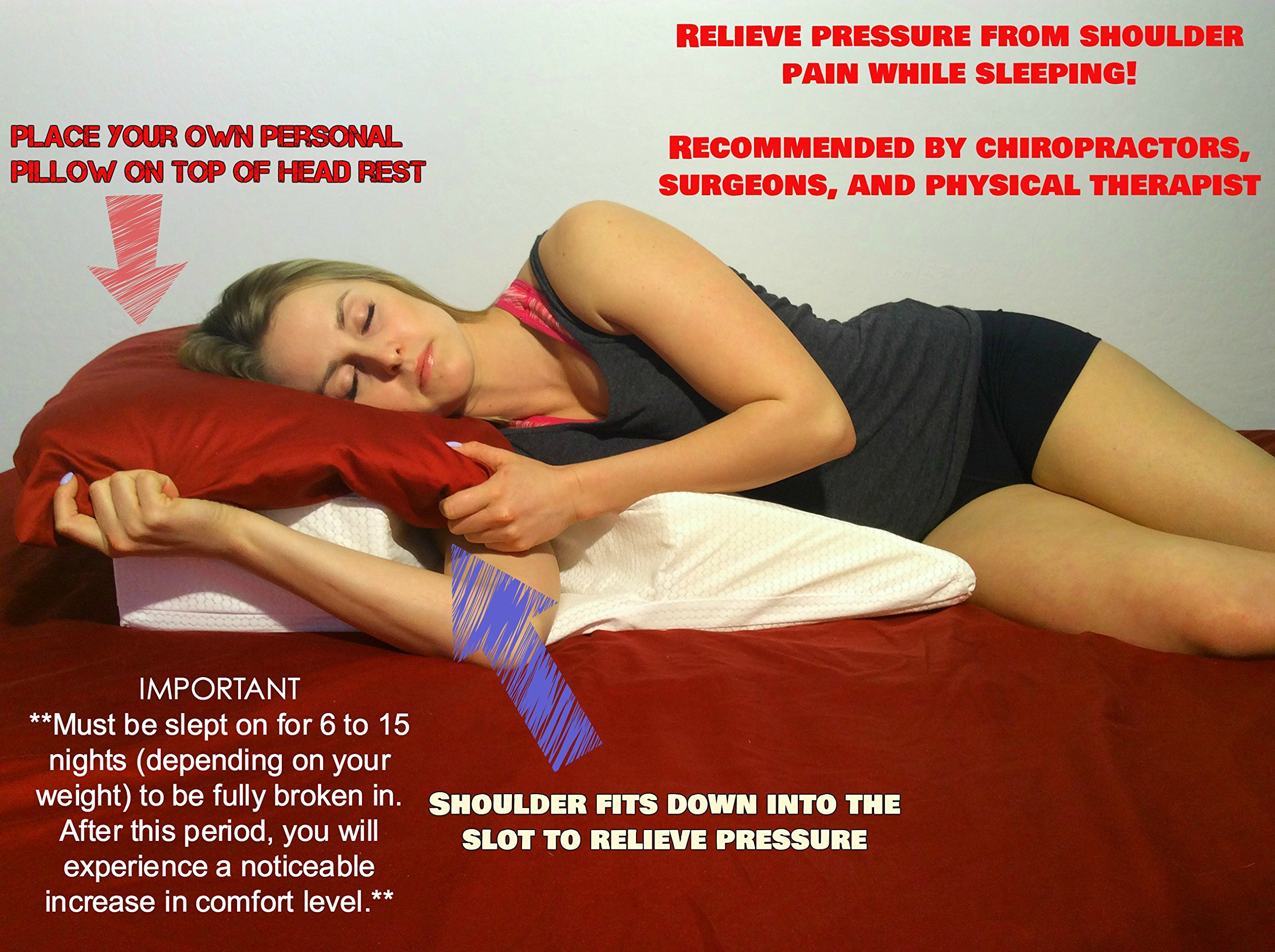 Bed Pillow - Support System For Shoulder Pain