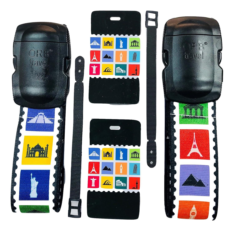 ORB Travel Premium Designer Luggage Strap 2x72-LS303-Multi-Colour-Honeycomb
