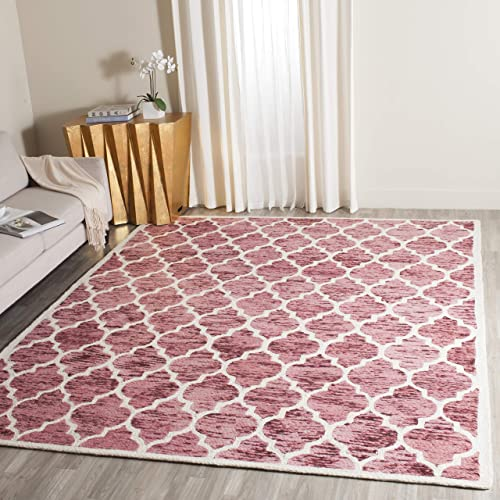 Safavieh Himalaya Collection HIM121B Handmade Red and Ivory Premium Wool Area Rug 8 x 10