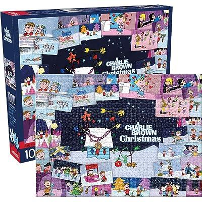 Aquarius Peanuts Charlie Brown Collage Christmas 1, 000Pc Puzzle, Multicolor: Toys & Games