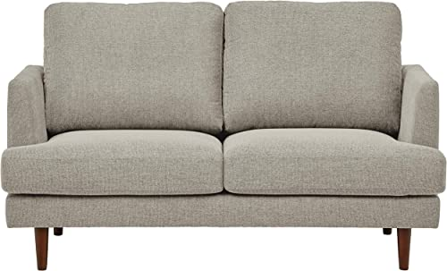 Rivet Goodwin Modern Loveseat, 61.8 W, Light-Gray Fabric