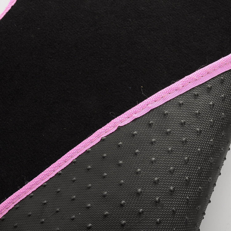 Tapis de Voiture Universel Rose Noir 4 pi/èces Universel WOLTU AM7141 Voiture Tapis de Sol Set,Voiture Tapis UNI,Broderie Papillon,Protecteur