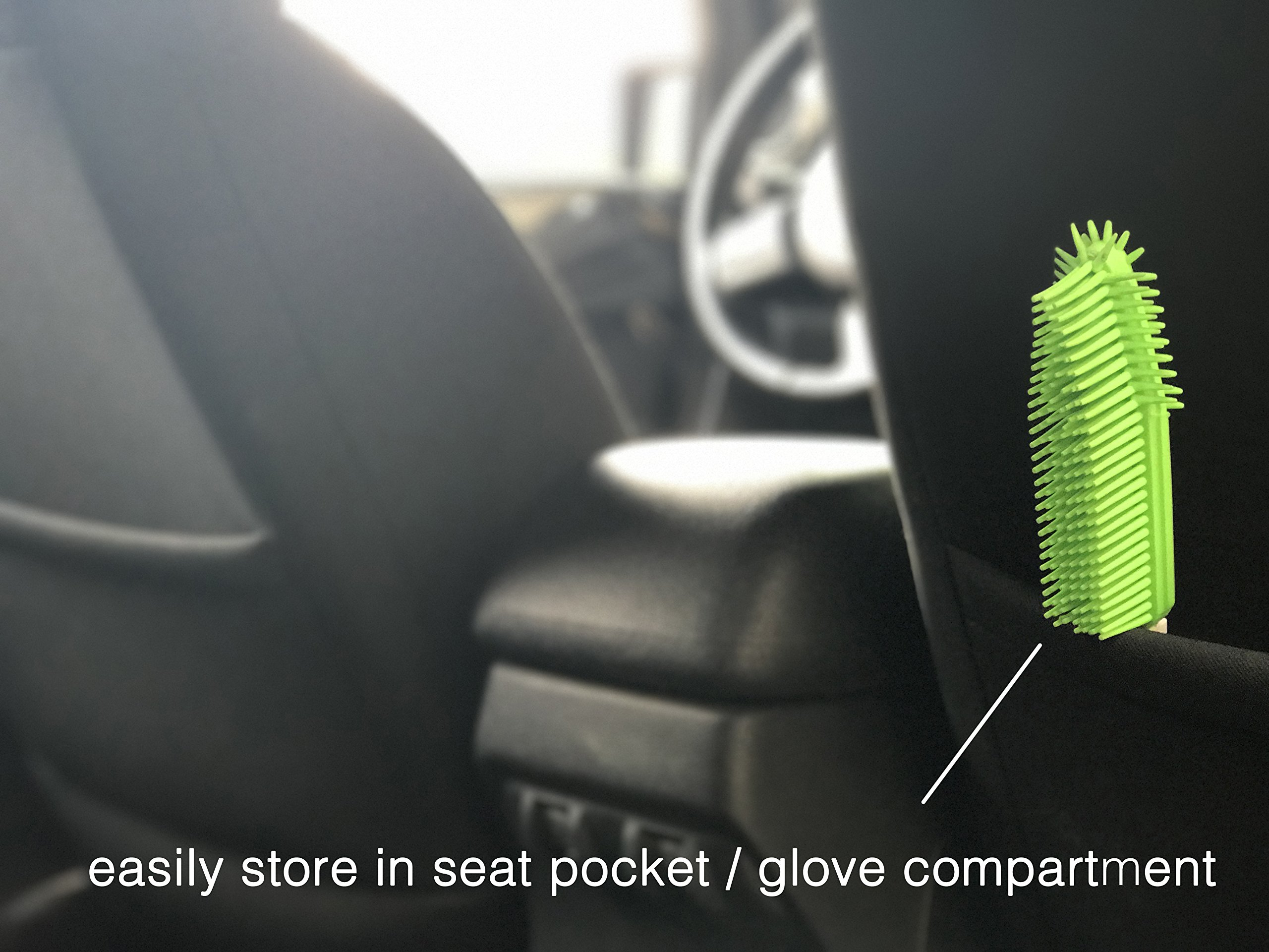 Best Car & Auto Detailing Brush for Pet Hair Removal and Car Upholstery Cleaner - Best Pet Hair Remover for Dog And Cat Hair - Great On Furniture (Bedding, Carpets, Blankets) – Use As A Lint Remover f by Dasksha (Image #5)