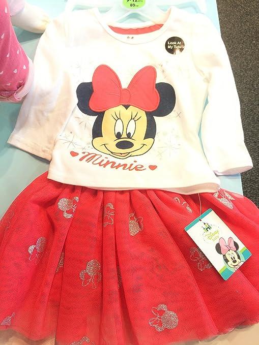 Auténtico Disney Minnie Mouse bebé niña Top y Falda (tallas ...
