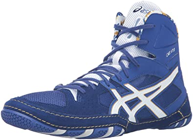 wrestling shoes blue and gold