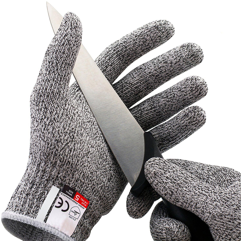 GZQ Une paire de gants de travail avec niveau de ré sistance 5, gants de cuisine pour ouvrir les huî tres, manipuler des filets, couper des lé gumes, du bois., gris gants de cuisine pour ouvrir les huîtres couper des légumes ZQEU