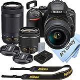 Nikon D5600 DSLR Camera Kit with 18-55mm VR + 70-300mm Zoom Lenses | Built-in Wi-Fi | 24.2 MP CMOS Sensor | EXPEED 4 Image Pr