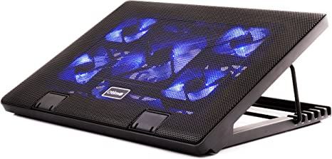 Laptop Cooling Stand Pad Usb Fan Notebook 17 Inc Black Great Quality Extra Port