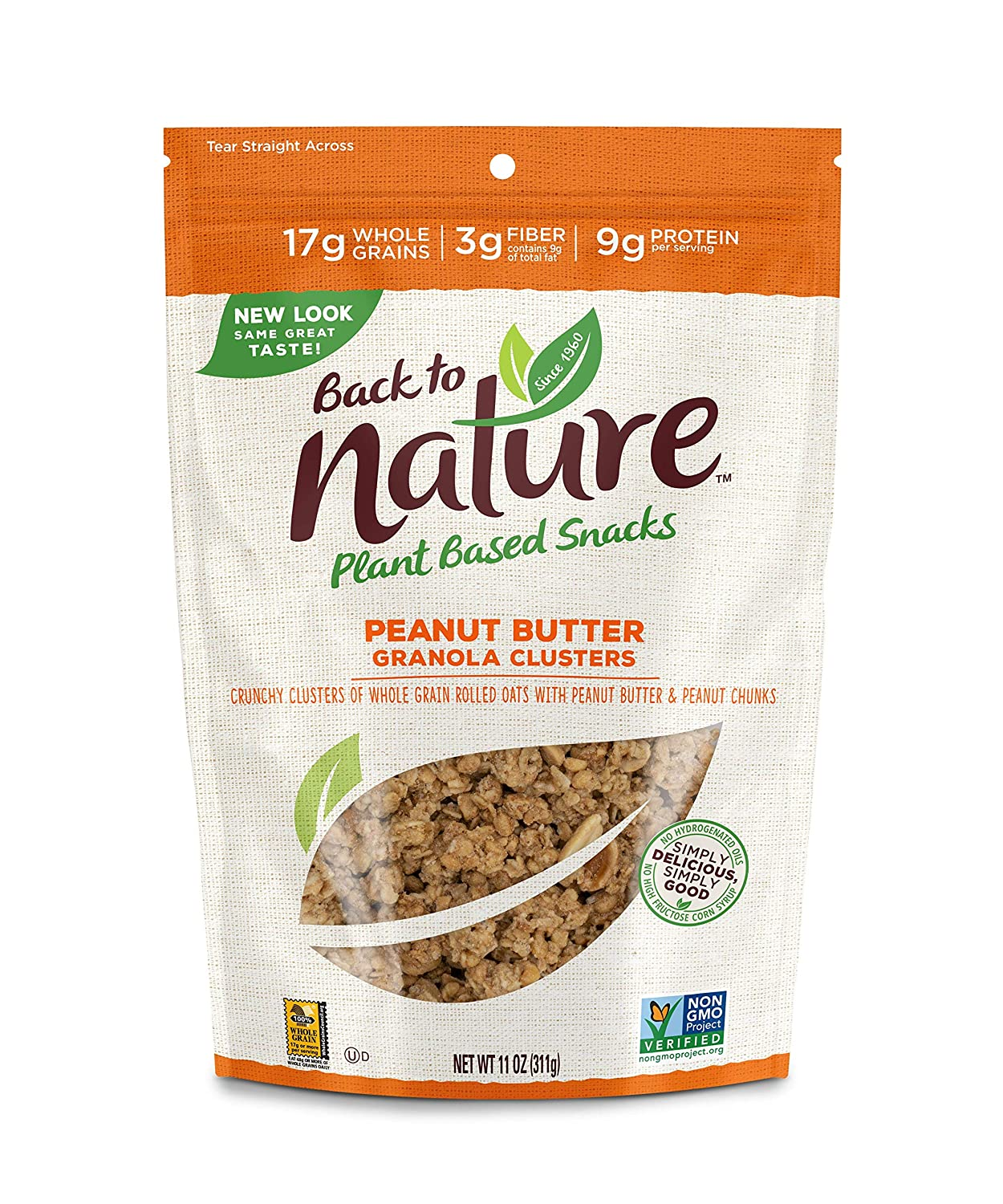 Back to Nature Granola Clusters, Non-GMO Peanut Butter, 11 Ounce (Packaging May Vary)