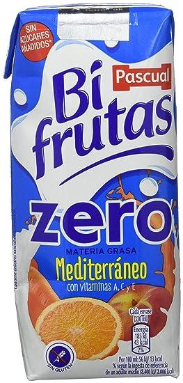 Bifrutas Zumo Leche, Sabor Mediterráneo - Paquete de 6 x 990 ml - Total:
