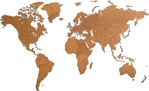 MiMi Innovations - Giant Decoración de pared de mapa del mundo ...