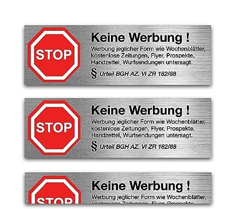 6x Aufkleber Sticker Keine Werbung Nie Wieder Werbung Dank Bgh Beschluss