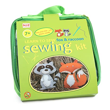 Amazon Com Learn How To Sew Sewing Kit For Kids Age 7 To 12 Easy