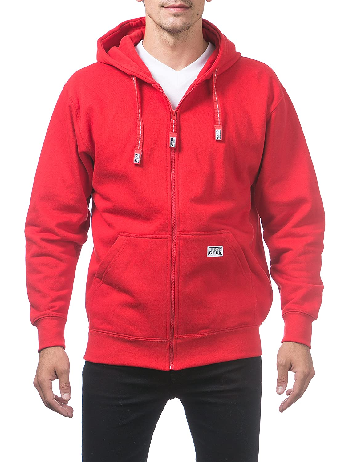 Pro Club Men's Heavyweight Full Zip Fleece Hoodie 143