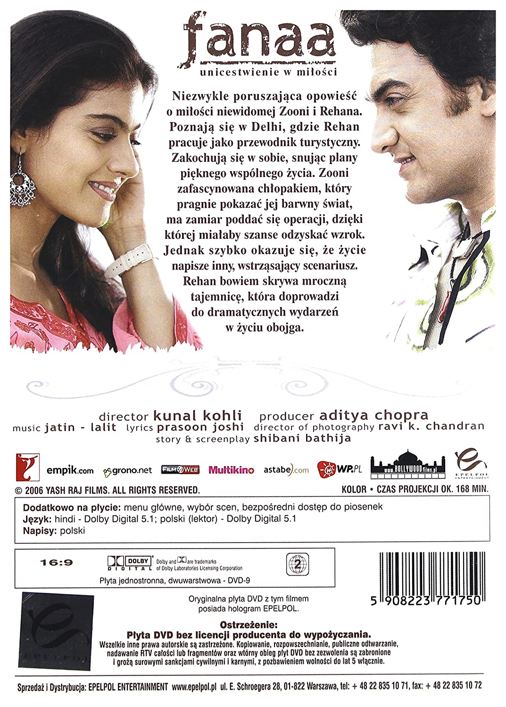 Amazoncom Fanaa Dvd Import No English Version Aamir
