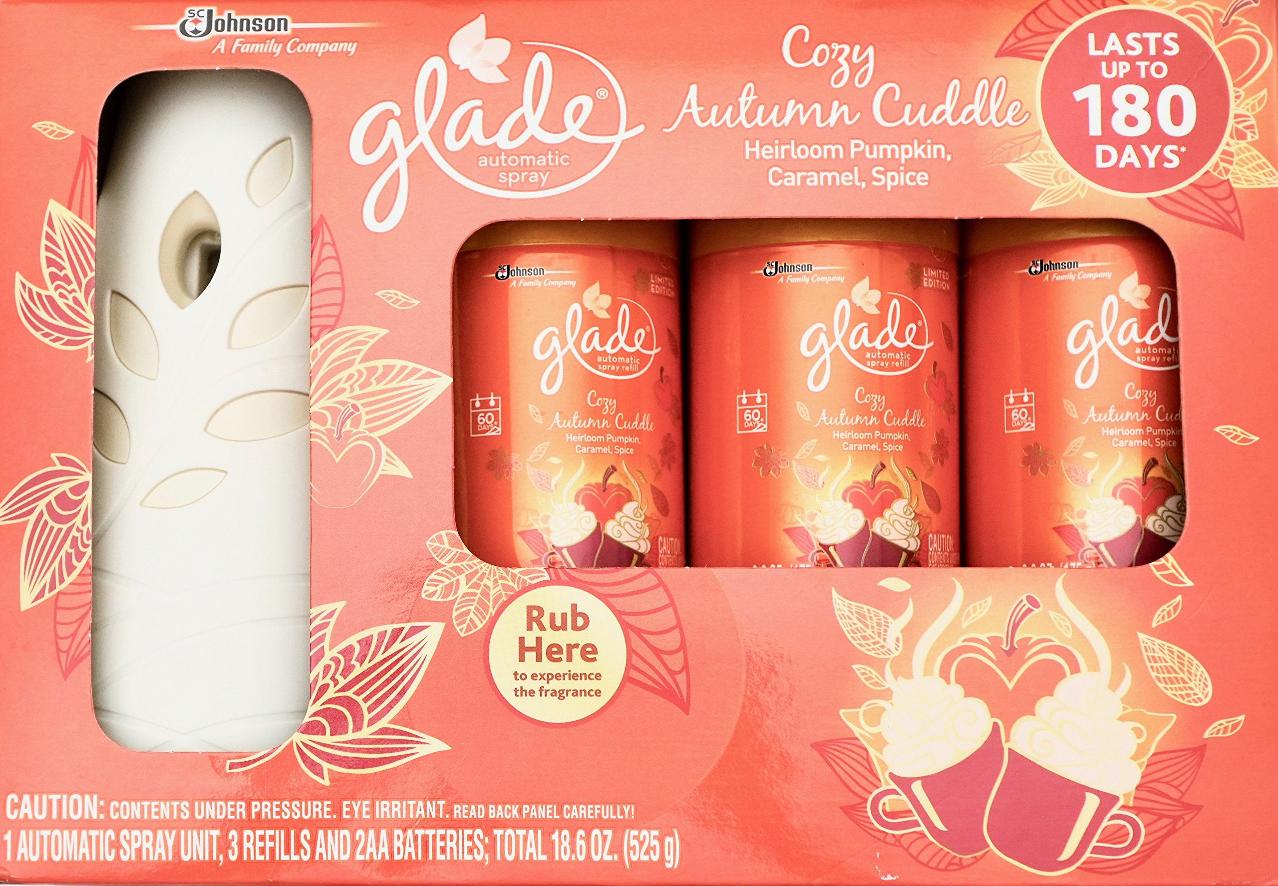 Glade Cozy Autumn Cuddle, Automatic Spray & 3 Refills by Glade