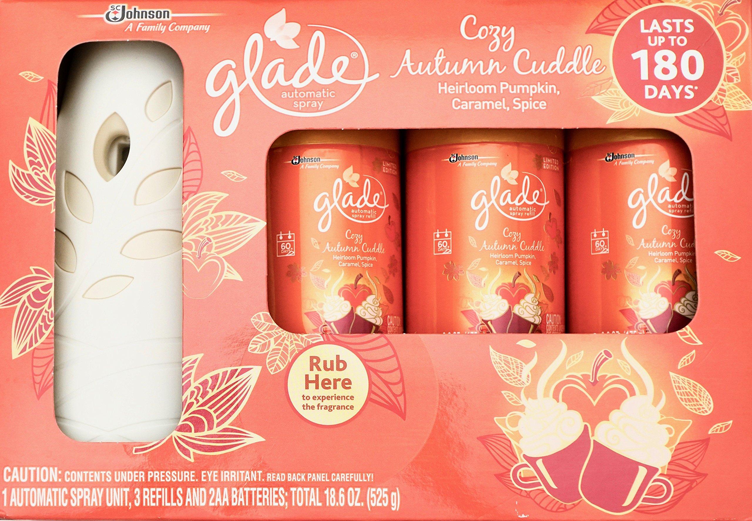 Glade Cozy Autumn Cuddle, Automatic Spray & 3 Refills