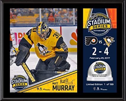"""381da734a3a Matt Murray Pittsburgh Penguins 12"""" x 15"""" 2017 Stadium Series  Sublimated Plaque with Game"""
