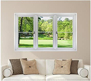 Superieur 48u0026quot; Golf Course Window Wall Decal!! Hole 12 At Augusta National Amen  Corner