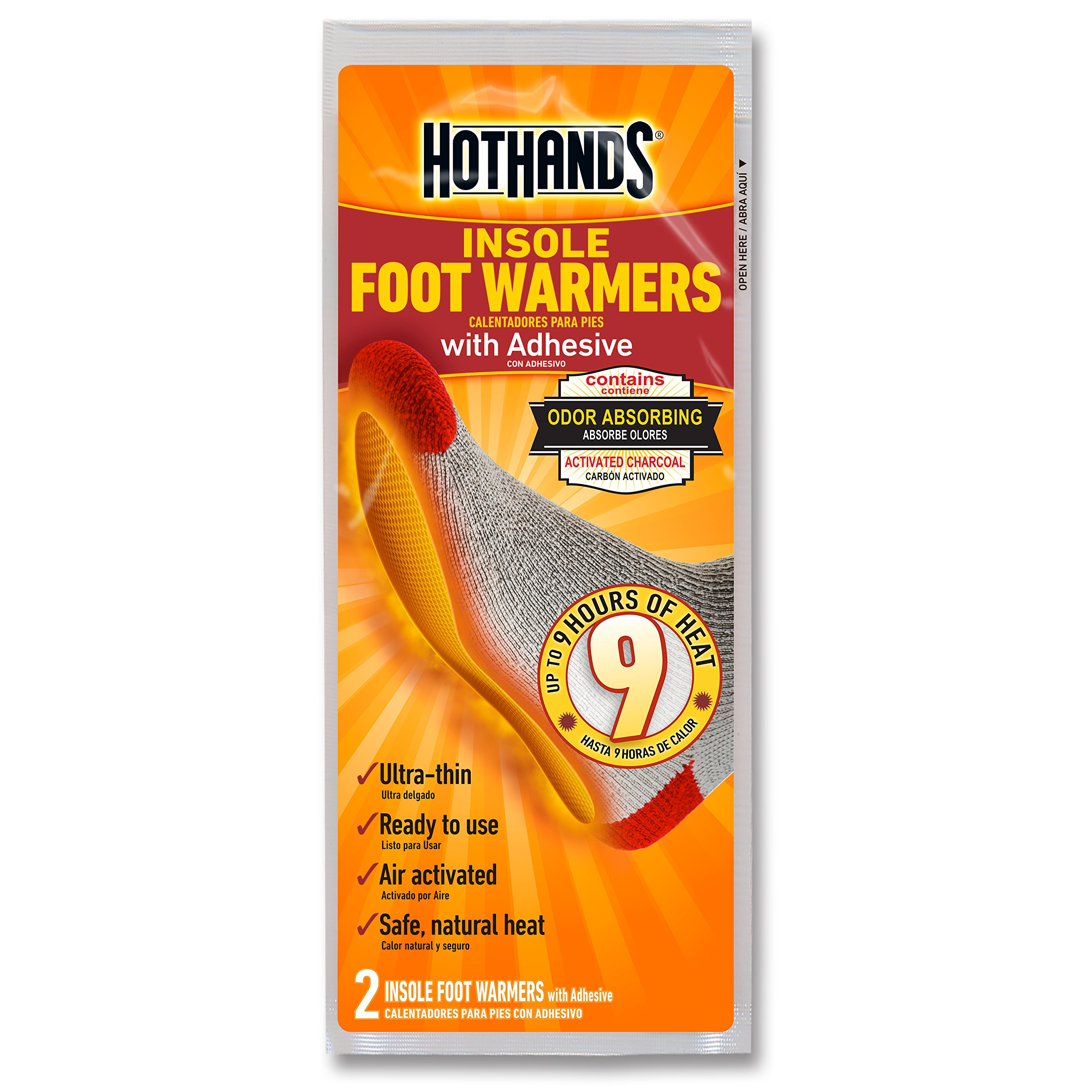 HotHands Insole Foot Warmers - Long Lasting Safe Natural Odorless Air Activated Warmers - Up to 9 Hours of Heat - 16 Pair by HotHands (Image #2)