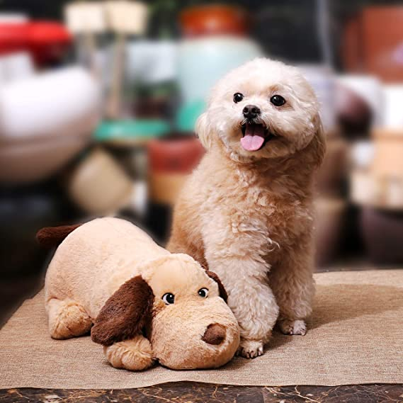 Heartbeat Dog Toy with Automatic Timing for Dogs Cats Puppyknow Puppy Behavioral Training Aid Toy for Anxiety Relief Newborn Puppies Sleep Aid Separation Anxiety