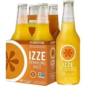 IZZE Sparkling Juice, Clementine, 12 Fl Oz (pack of 4)