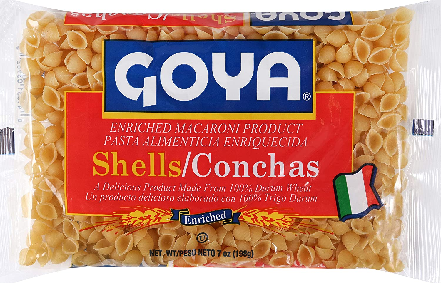 Goya Foods Conchas/Shell Pasta, 7-Ounce (Pack of 20)