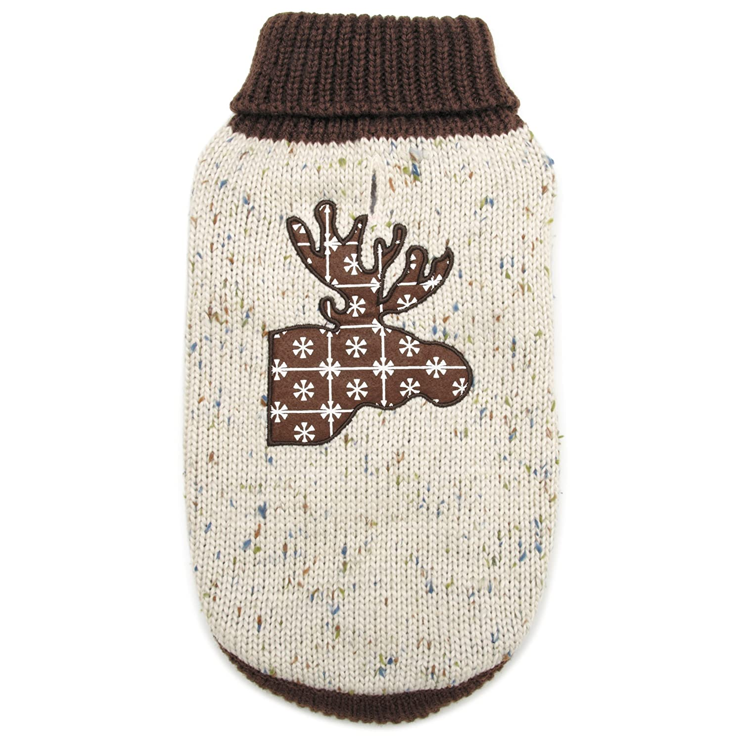 Large Zack & Zoey Northern Woods Moose Sweater, Large