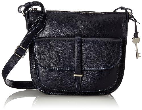 3bd251bbd Fossil Damentasche ? Ryder Crossbody Tasche, Women's Cross-Body Bag, Blue  (Midnight
