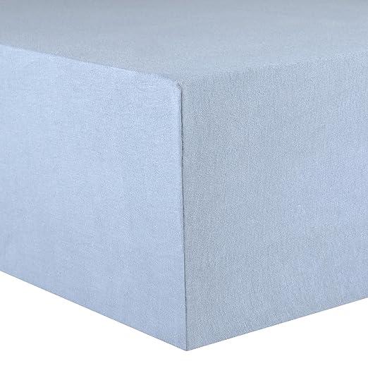 CelinaTex Lucina Sábanas Ajustables algodón 90x200-100x200 cm Azul Agua