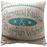 """Small Mermaid Kisses Pillow (8x8"""")"""