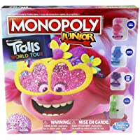 Hasbro Monopoly Junior: DreamWorks Trolls World Tour Edition Board Game for Kids Ages 5 and Up,E7496