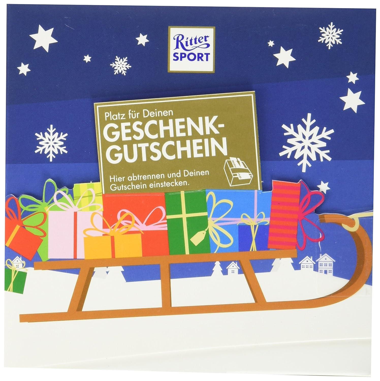 RITTER SPORT Gutschein Geschenk (5 x 163 g), kreative Verpackung für ...