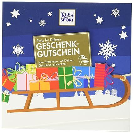 Ritter Sport Gutschein Geschenk 5 X 163 G Kreative Verpackung Fur