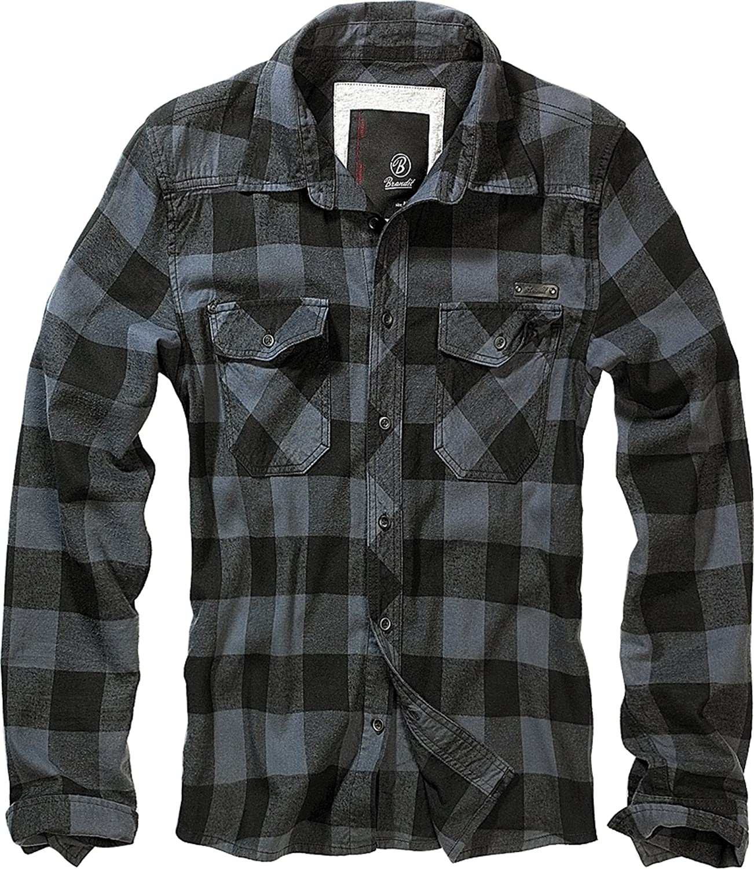 Brandit Check Shirt, Camisa de algodón, Camisa de Franela, Muchos Colores