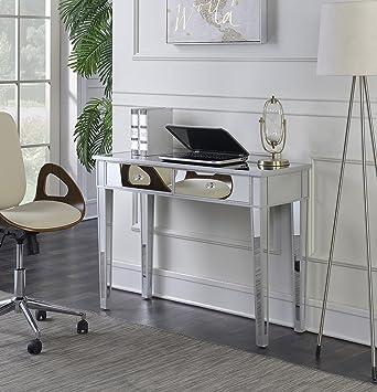 convenience concepts gold coast mirrored desk vanity