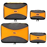 Pro Packing Cubes 4 Piece Lightweight Travel Cube Set of Compression Organizers